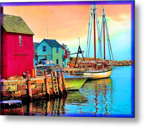 Metal Print featuring the painting 2449  Rockport by Ed Immar