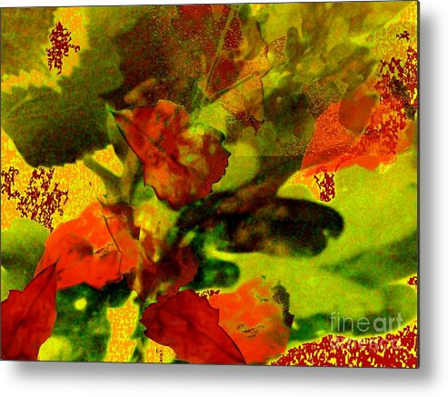 Landscape Metal Print featuring the photograph Abstract Landscape, Fall Theme by Aleksandra Pomorisac