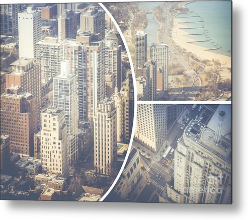 Chicago Metal Print featuring the photograph Collage Of Chicago by Mariusz Prusaczyk