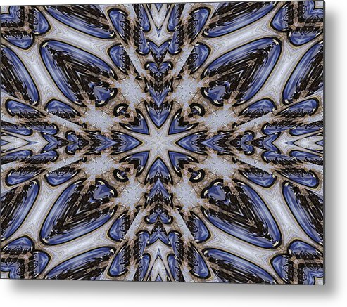 Kaleidoscope Metal Print featuring the digital art Dragonfly Wings by Michele Caporaso