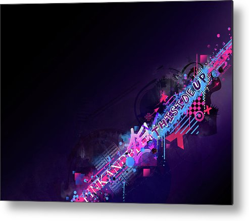 Vector Metal Print featuring the digital art Vector by Mery Moon