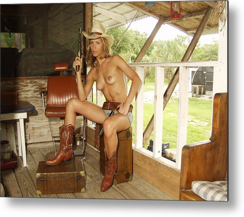 Lucky Cole Everglades Photographer Metal Print featuring the photograph Everglades Cowgirl by Lucky Cole