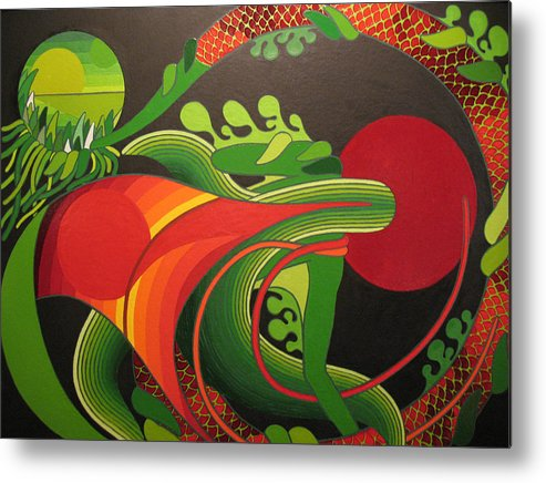 Dreams Metal Print featuring the painting My World by Francesco Venier