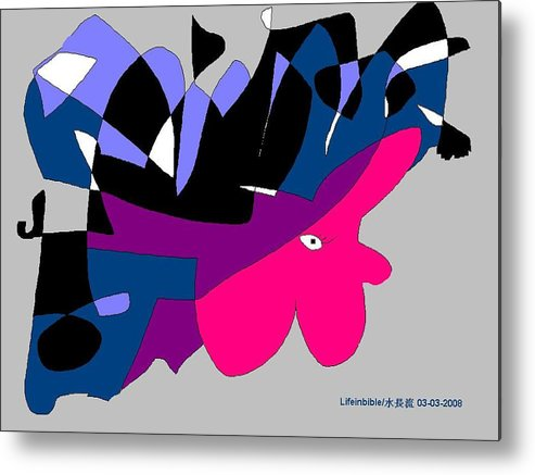 Lady Metal Print featuring the painting Abstract by Victoria Wang
