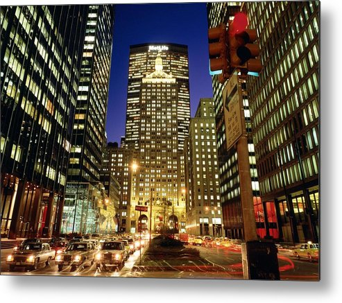 City Metal Print featuring the digital art City by Mery Moon