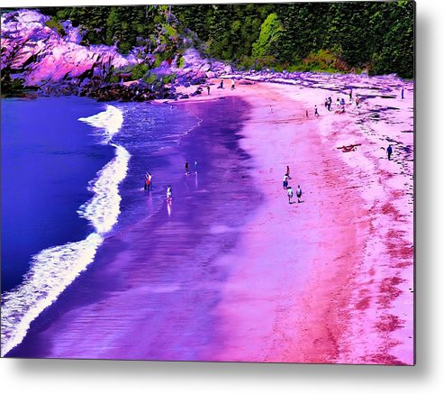 Seascape Metal Print featuring the photograph 74f Bright Beach by Ed Immar