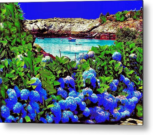 Landscape Metal Print featuring the photograph 75h Ocean Flowers by Ed Immar