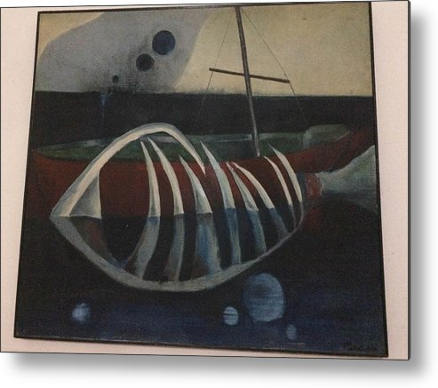 Metal Print featuring the painting Untitled by Muhammad Ali Afzal Jalwana