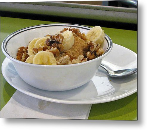 Still Life Metal Print featuring the photograph A Bowl Of Oats by Donna Thomas