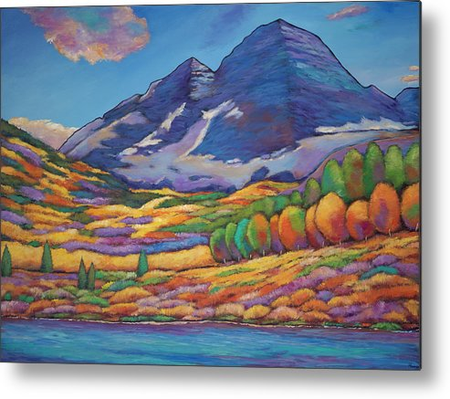 Aspen Tree Landscape Metal Print featuring the painting A Day In The Aspens by Johnathan Harris