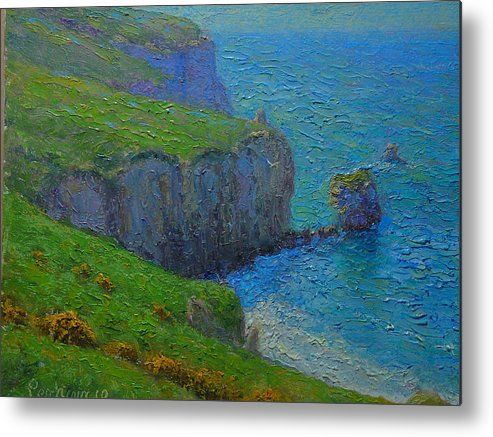 Plein Air Metal Print featuring the painting A Fallen Arch by Terry Perham