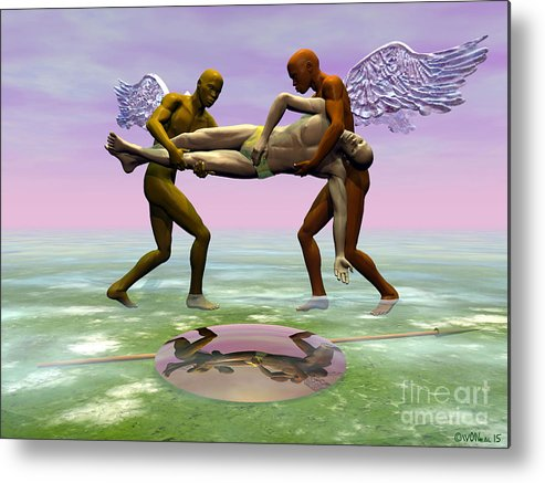 Fantasy Metal Print featuring the digital art A Fallen Warrior by Walter Oliver Neal