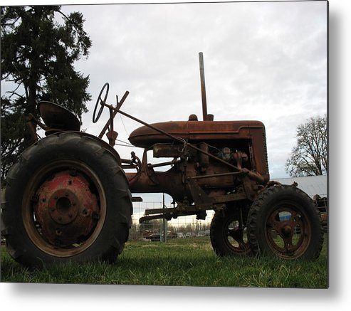 Tractor Metal Print featuring the photograph A Farmall by Juli House