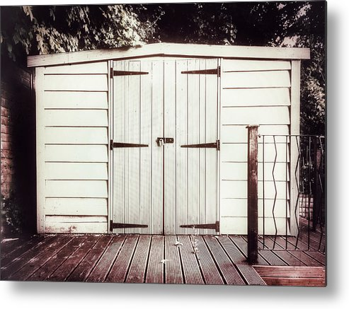 Architecture Metal Print featuring the photograph A Garden Shed by Tom Gowanlock