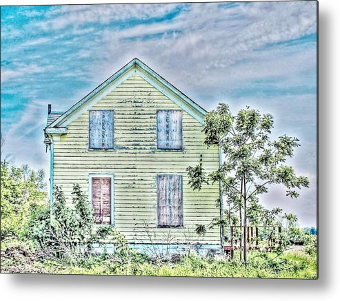 Shutter Metal Print featuring the photograph A Lingering Echo by Karl Anderson