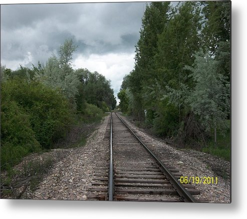 Rails Metal Print featuring the photograph A Lonely Trail by Ann Korthas