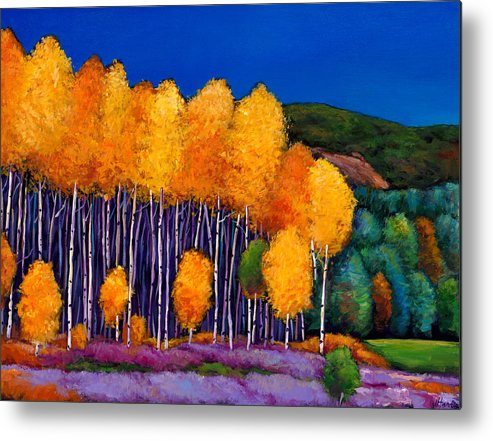 Aspen Metal Print featuring the painting A Moment In Time by Johnathan Harris