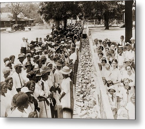 History Metal Print featuring the photograph A Properly Segregated Summer Social by Everett