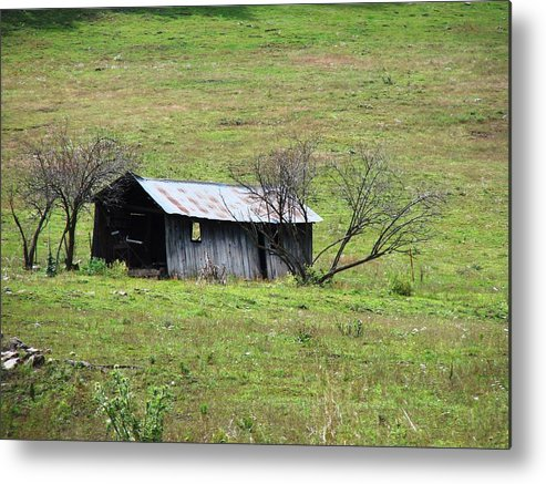Barn Metal Print featuring the photograph Abandoned Barn Close Up by Brenda Purvis