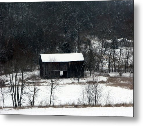 Barn Metal Print featuring the photograph Abandoned Barn by Martie DAndrea