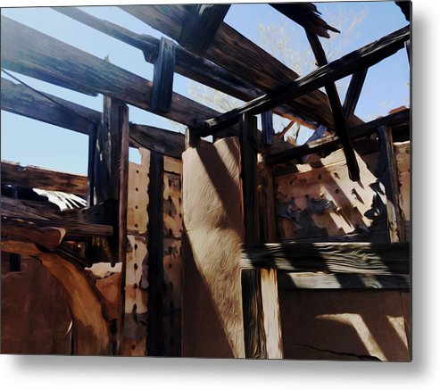 Abandoned Metal Print featuring the digital art Abandoned House 1 by Christopher Parschalk
