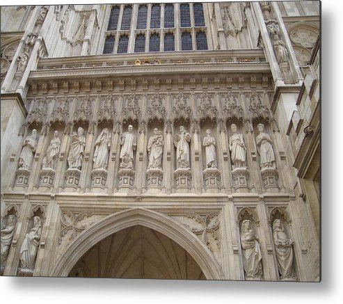 Westminster Abbey Metal Print featuring the photograph Abbey Facade by Kimberly Hill
