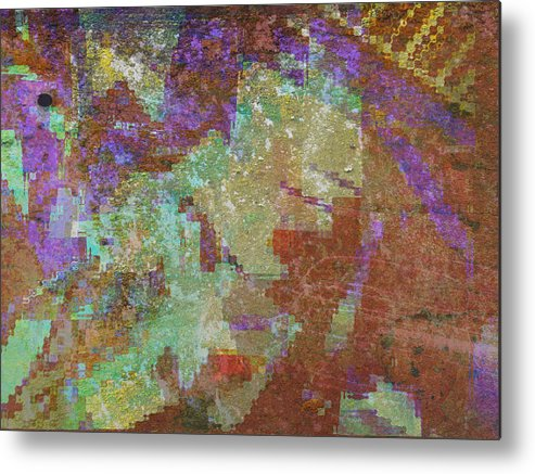 Abstract Metal Print featuring the mixed media Abstract 3 by Rene Avalos