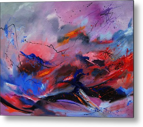 Abstract Metal Print featuring the painting Abstract 971260 by Pol Ledent
