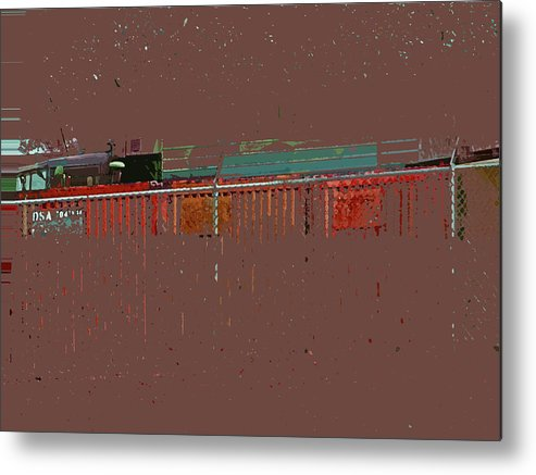 Abstract Metal Print featuring the digital art Abstract For Viv by Lenore Senior