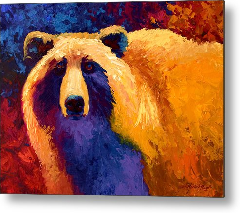 Western Metal Print featuring the painting Abstract Grizz II by Marion Rose