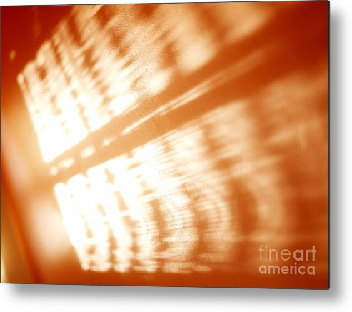 Abstract Metal Print featuring the photograph Abstract Light Rays by Tony Cordoza