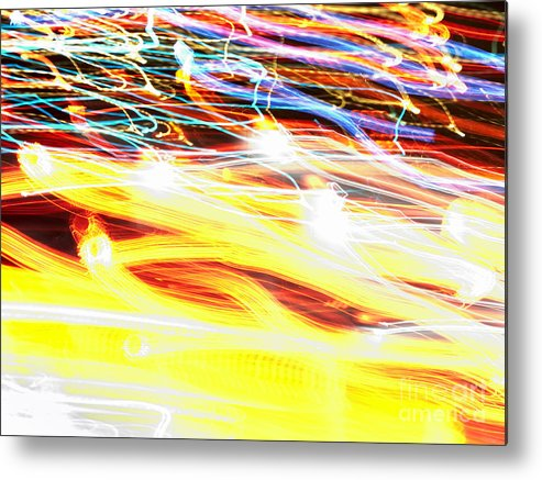 Abstract Metal Print featuring the photograph Abstract Light by Tony Cordoza