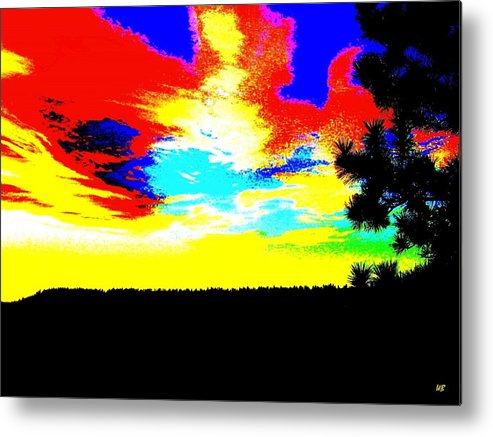 Abstract Metal Print featuring the digital art Abstract Sky by Will Borden