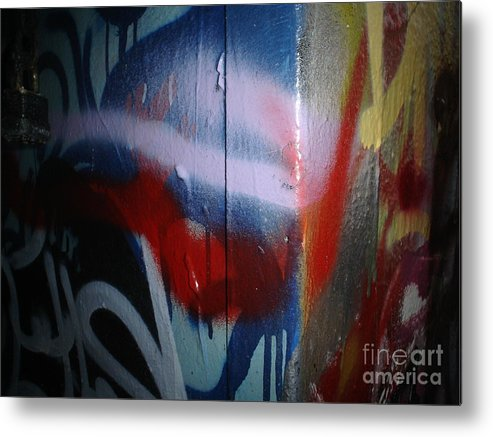 Abstract Urban Art Metal Print featuring the photograph Abstract Urban Art by Chandelle Hazen
