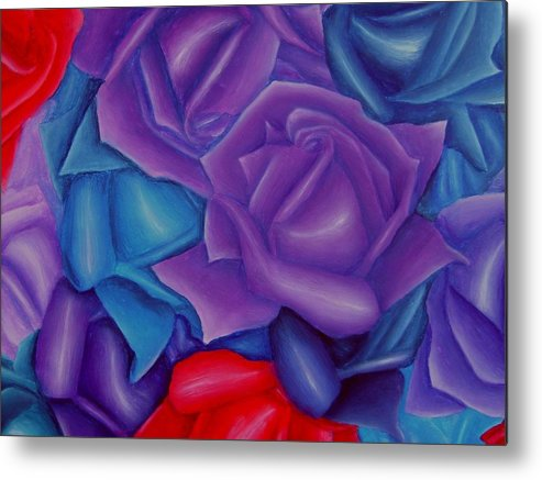 Flower Metal Print featuring the painting Abundance by Brandon Sharp