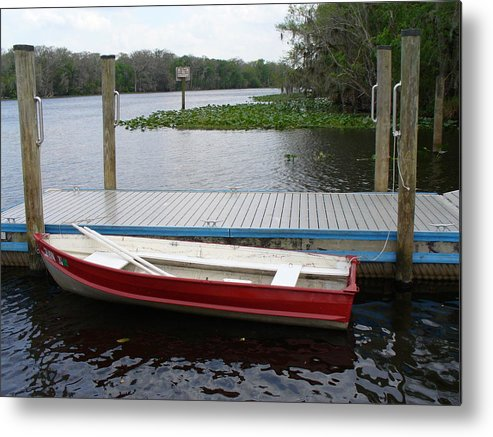Water Metal Print featuring the photograph Afloat by Stephanie Richards