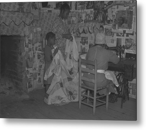 History Metal Print featuring the photograph African American Mother Is Assisted by Everett