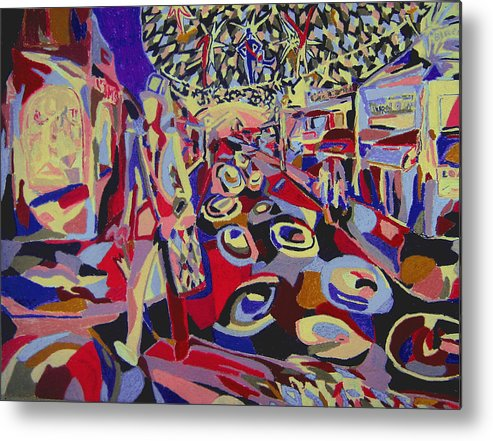 Fantasy Metal Print featuring the painting After The Show by Tadeush Zhakhovskyy