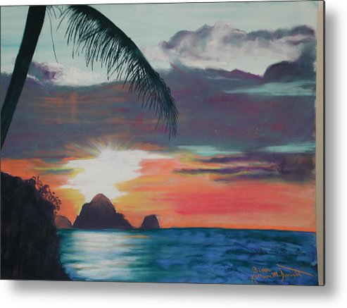 Sunset Metal Print featuring the painting Ahhh by Katherine McDermott