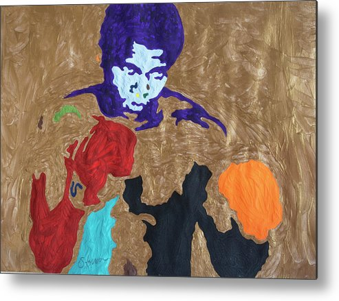 Ali Metal Print featuring the painting Ali The Greatest by Stormm Bradshaw