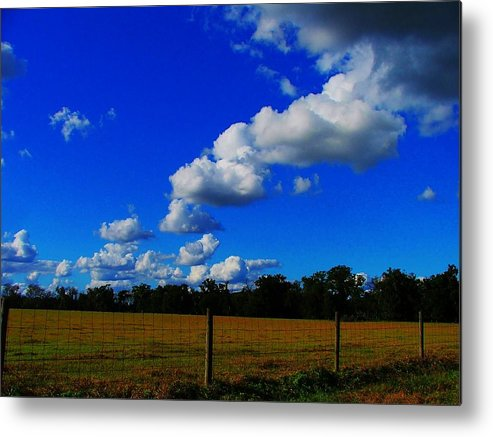 Clouds Metal Print featuring the photograph All About Clouds by Judy Waller
