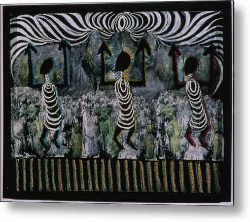 Africa Metal Print featuring the painting All This Country Belongs To Us by Barbara Nesin
