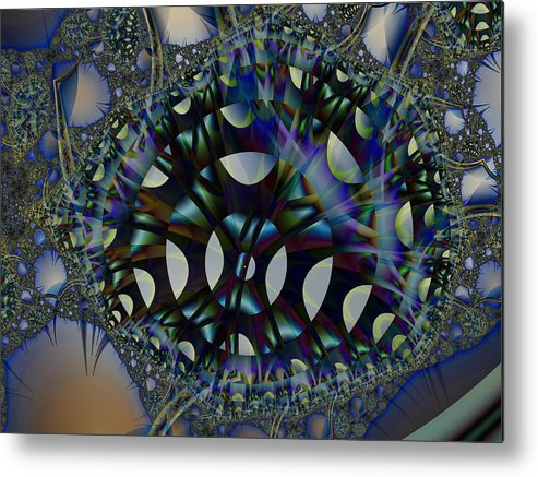 Fractal Metal Print featuring the digital art Allien Gears by Frederic Durville