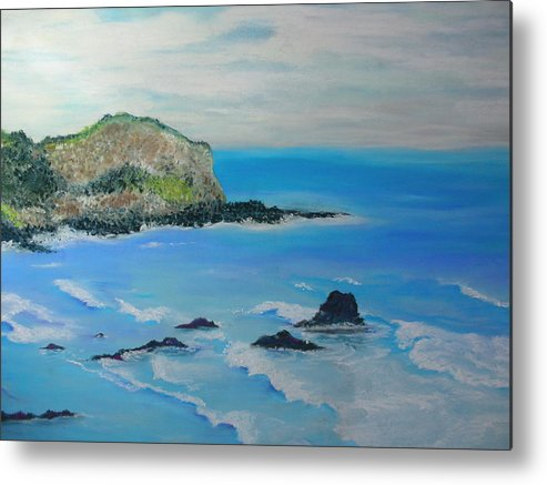 Hawaii Metal Print featuring the painting Aloha by Melinda Etzold