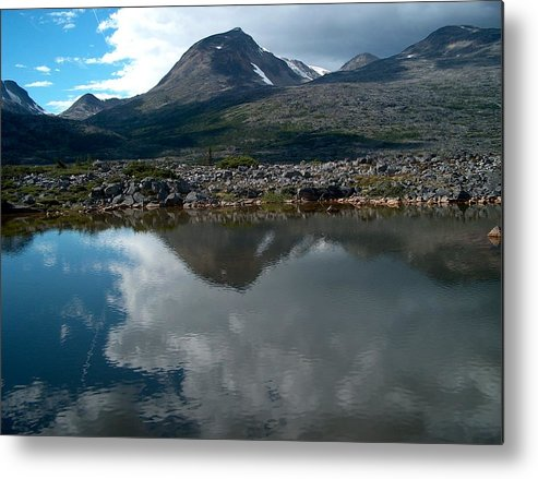 Whitehorse Metal Print featuring the photograph Along The Whitehorse Trail by Janet Hall