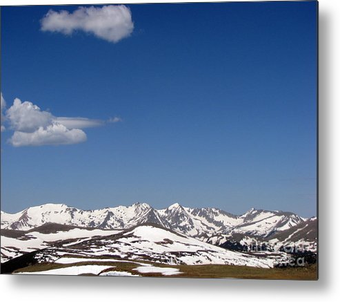 Mountains Metal Print featuring the photograph Alpine Tundra Series by Amanda Barcon