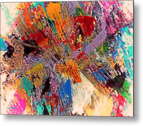 Abstract Metal Print featuring the painting Always There by Charles Yates