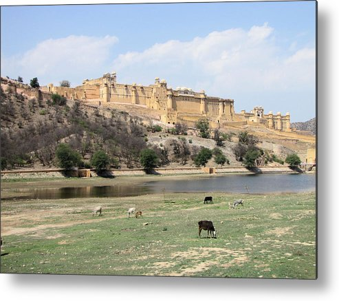 Amber Metal Print featuring the photograph Amber Fort by Elbert Shackelford