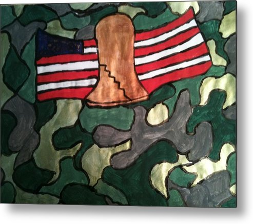 United States Metal Print featuring the painting America by Jennifer Briggs