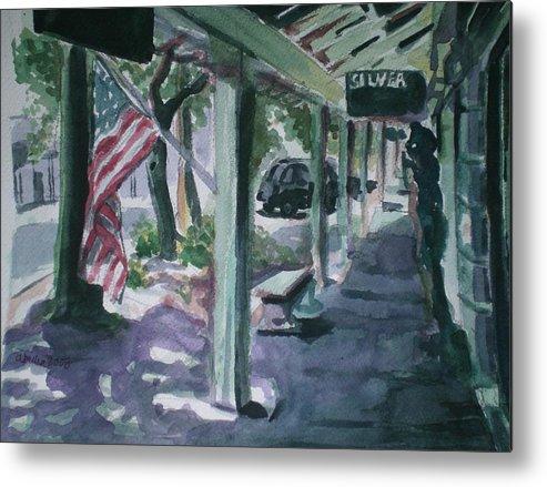 American Flag Metal Print featuring the painting American Flag by Aleksandra Buha